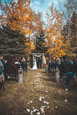 obřadní místo pro boho svatbu